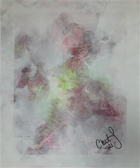 Chatarina Salomonsson - Flower Garden Acrylic on Canvas, Paintings