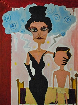 Fernando Magdaleno - Once Upon A Time Acrylic, oilstick on Canvas, Mixed Media