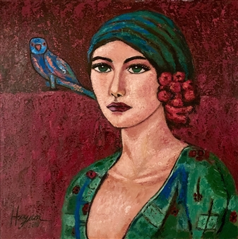 Hayam Elsayed - Pretty Pure Acrylic on Canvas, Paintings