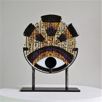 Anne Felicie Nickels - RA Medium 'Hieroglyf' #11 Kiln Formed Glass, Sculpture