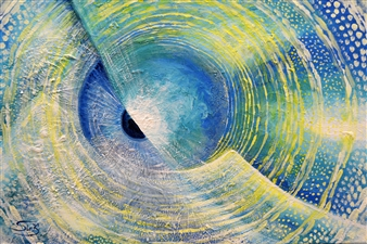 SirK - Real Lens Acrylic on Canvas, Paintings