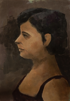 Jutta Ebeling-Dehnhard - Portrait Acrylic on Carton Board, Paintings
