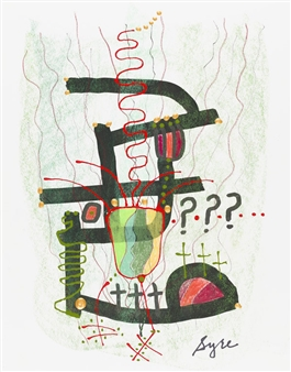David Syre - COVID-19...Lost in the Forest Mixed Media on Paper, Mixed Media