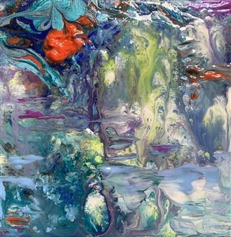 Jodi DeCrenza - Paradise Falls Acrylic on Canvas, Paintings