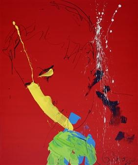 G Corona - Perseverance Acrylic on Canvas, Paintings