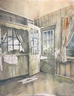 Pauli Zmolek - Doorway Watercolor on Paper, Paintings