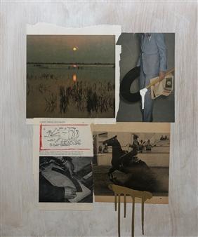 William Atkinson - Lane Marker 2 Mixed Media & Collage on Board, Mixed Media