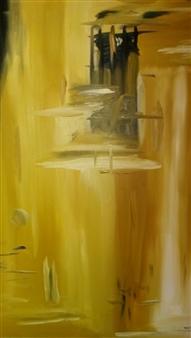 Jose Ramon Santiago - Ghetto Entrapment Oil on Canvas, Paintings