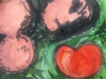 Elijah - Untitled 8 Watercolor on Paper, Paintings