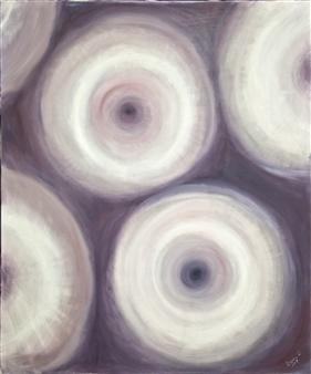 Barbara Wykrota - Pensées Oil on Canvas, Paintings
