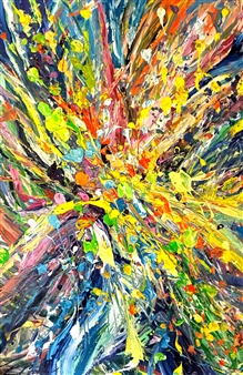 Erin Cooke - Splatter Abstraction I Acrylic on Canvas, Paintings