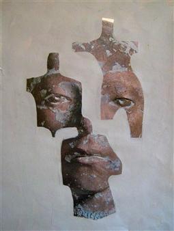 Stefano Sanna - Studio per Figura (Study for a Figure) Mixed Media on Paper, Mixed Media