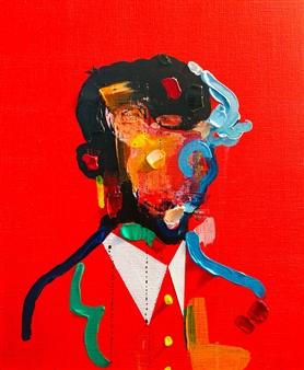 Kazusa Matsuyama - -Anonymous Portrait 09- Acrylic on Canvas, Paintings