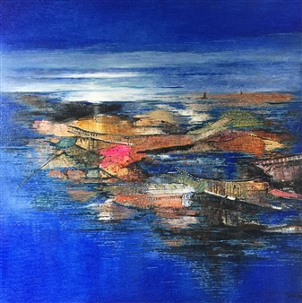 Madhuri Bhaduri - Seascapes 1 Oil on Canvas, Paintings