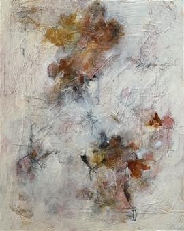 Alissa Van Atta - Forget the Hopscotch Acrylic & Mixed Media on Canvas, Mixed Media