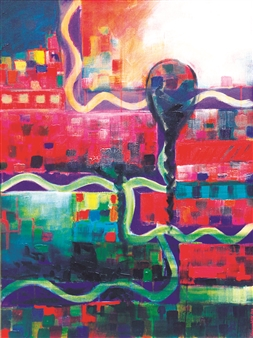 Saurabh Mohan - Solitude Acrylic on Canvas, Paintings