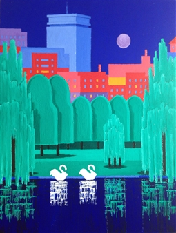Mario España - Heart of Boston Oil on Canvas, Paintings