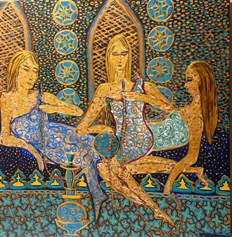 Salome Chelidze - Relax Acrylic on Canvas, Paintings