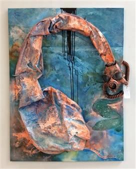 The KonKons - Loch Ness Mixed Media on Canvas, Mixed Media