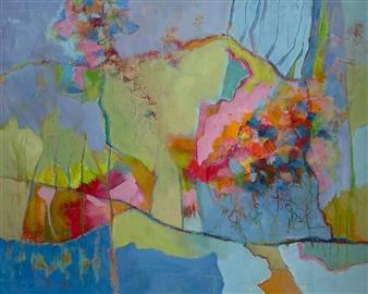 Jenny Shaw - Hope Mixed Media on Canvas, Mixed Media