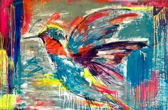Grażyna Aneta Ochowiak - Lightness Acrylic & Mixed Media on Canvas, Mixed Media
