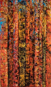 Martina Della Rocca - Arbres Feu Acrylic on Canvas, Paintings