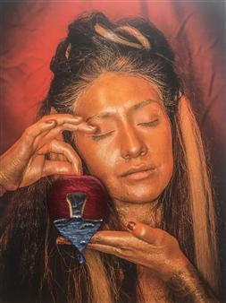 Diana Vargas - John 7:38 Acrylic & 3D on Photograph Printed on Canvas, Mixed Media