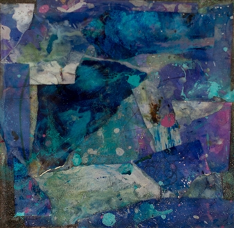 Abigail Custis - Lo Lo the Blue Jay Acrylic on Canvas, Mixed Media