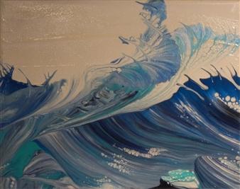 Patti Hodder - Chop Acrylic on Canvas Board, Paintings