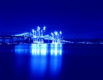 Chet B. Simpson - Tappan Zee Bridge II Photograph on Plexiglass, Photography