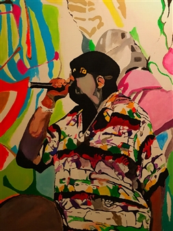 Monel Aliote - Coogi Shirt Acrylic on Canvas, Paintings