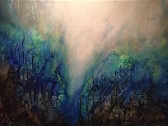Tiffany Reid - Luciferas Acrylic on Canvas, Paintings