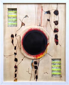 Humberto Guanipa - Espected Hard Acrylic & Mixed Media on Wood, Mixed Media