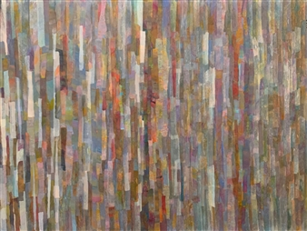 Ellen Globokar - Late September Collage on Canvas, Mixed Media