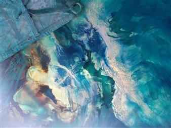 The KonKons - Infinity Mixed Media on Canvas, Mixed Media