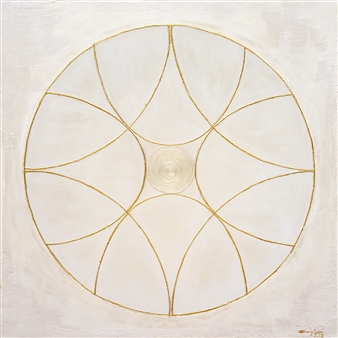 Diana Wunsch - Planet Venus / Beauty Gentleness 24 Karat Gold & Acrylic on Canvas, Mixed Media