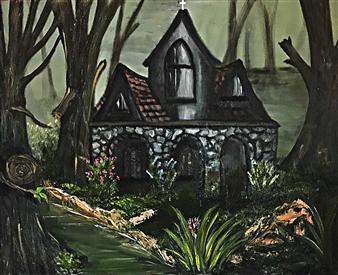 Tsila Mackay - Misty Woods Oil on Canvas, Paintings