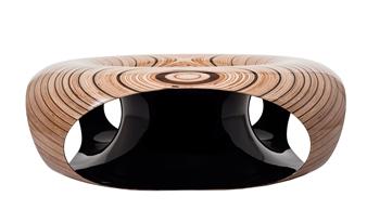 Iftah Geva - Table - Solar Plexus, view 2 Carbon Fiber and Wood, Sculpture