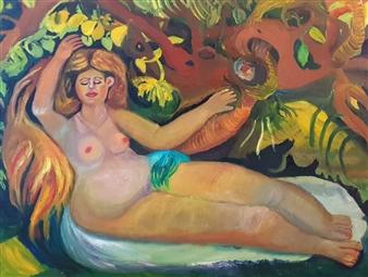 Mira Seeman - Inspiration of Renuar Oil on Canvas, Paintings