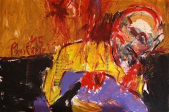 Philippe Thélin - A Bullet Through His Head Acrylic on Canvas, Paintings