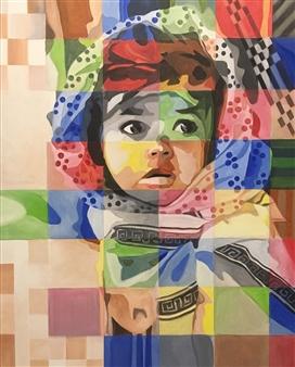 Don Kosta - Little Girl Acrylic on Canvas, Paintings
