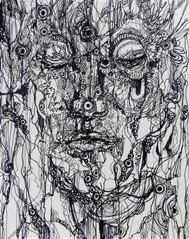 Kaoru Kushima - Human Pen on Paper, Drawings