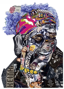 GLIL - Keith Richards Paper/Collage, Mixed Media