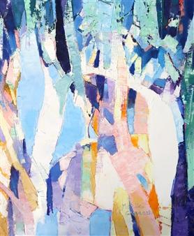 Monika Gloviczki - Rainforest Oil on Canvas, Paintings