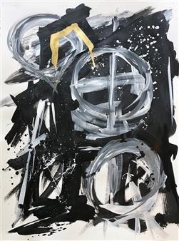 William Atkinson - Painting 2 Acrylic & Mixed Media on Paper, Mixed Media