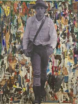 Nello Petrucci - Siamo Noi La Rivoluzione Collage on Canvas, Mixed Media