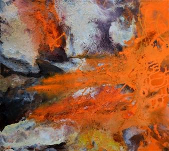 Ingrid Strecker - Magic Places I Acrylic on Sand, Paintings