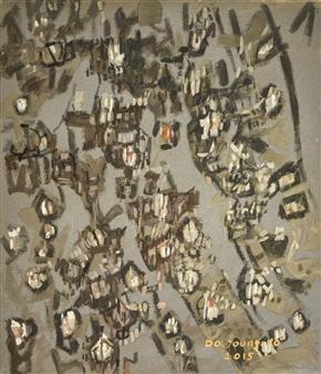 Soilart Jo-DoJoong - Knar 6 Soil on Canvas, Paintings