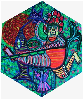 Paula Sayago Lundin - Path Acrylic on Canvas, Paintings