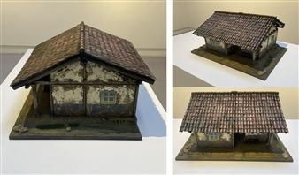 Mauricio Valdiviezo - Andean Housing Modeling with Cardboard & Acrylic, Sculpture